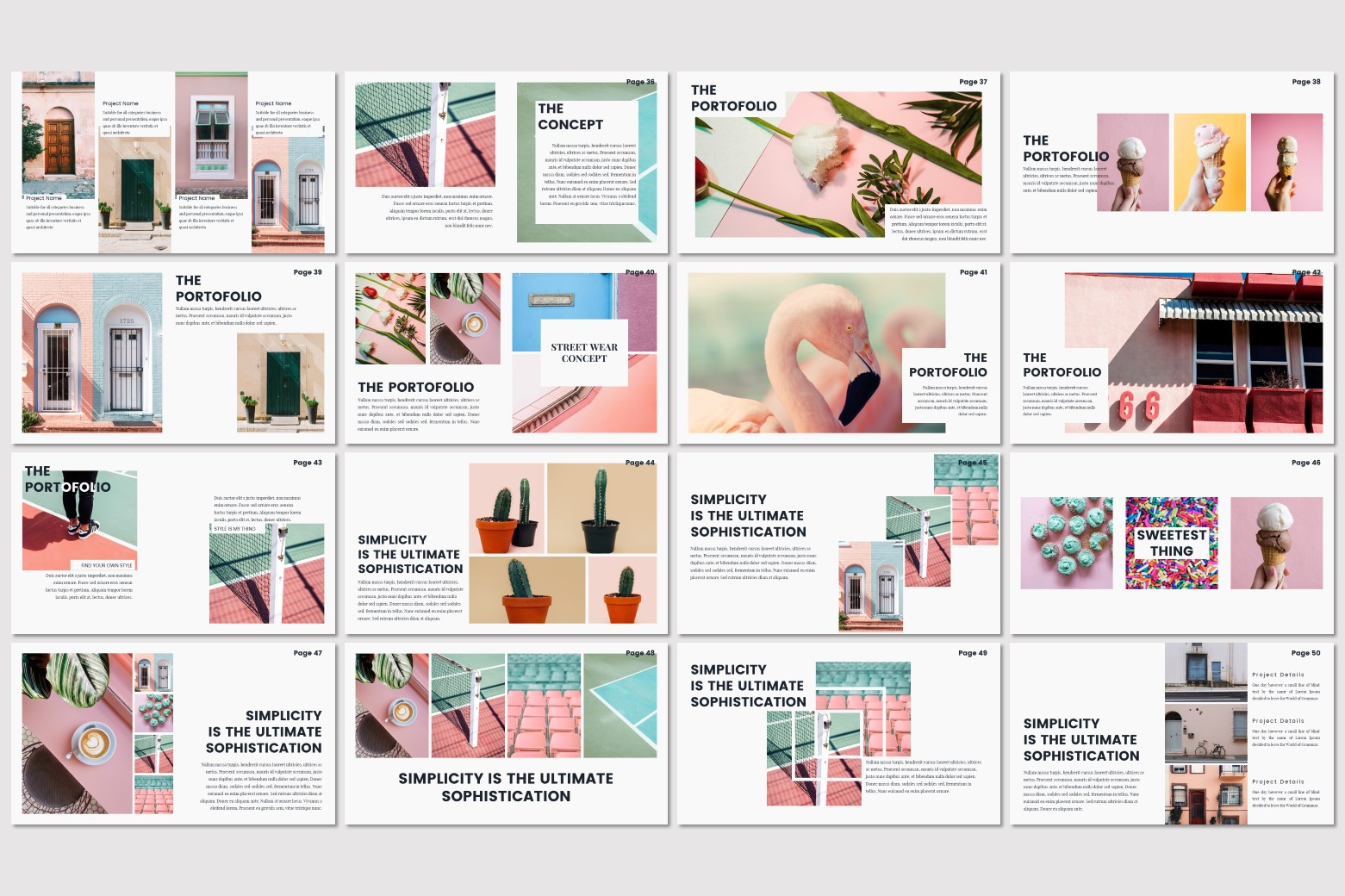 Google Slides Template Pastel
