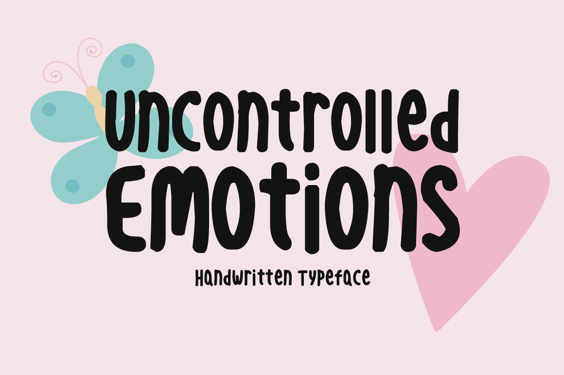 Uncontrolled Emotions handwritten font