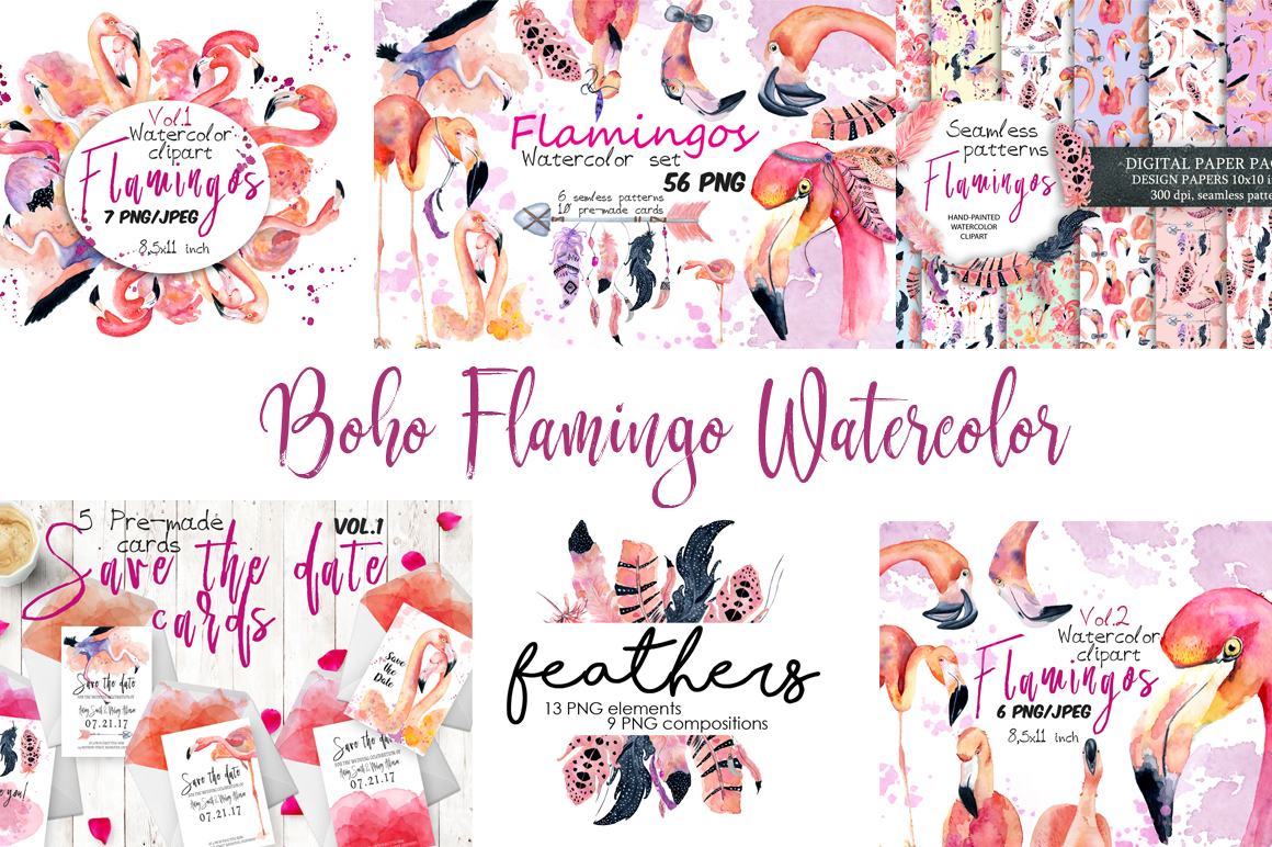 Summer Sale Watercolor Bundle 80%OFF! - cover 1 4
