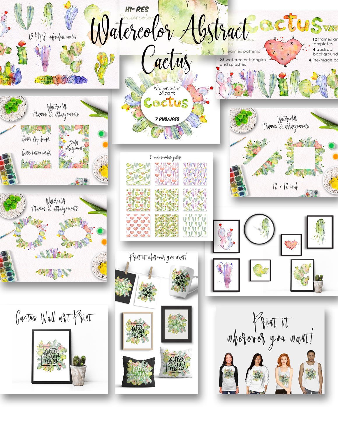 240+ Cactus Clipart 2021: Free and Premium Collections - cover 1 6
