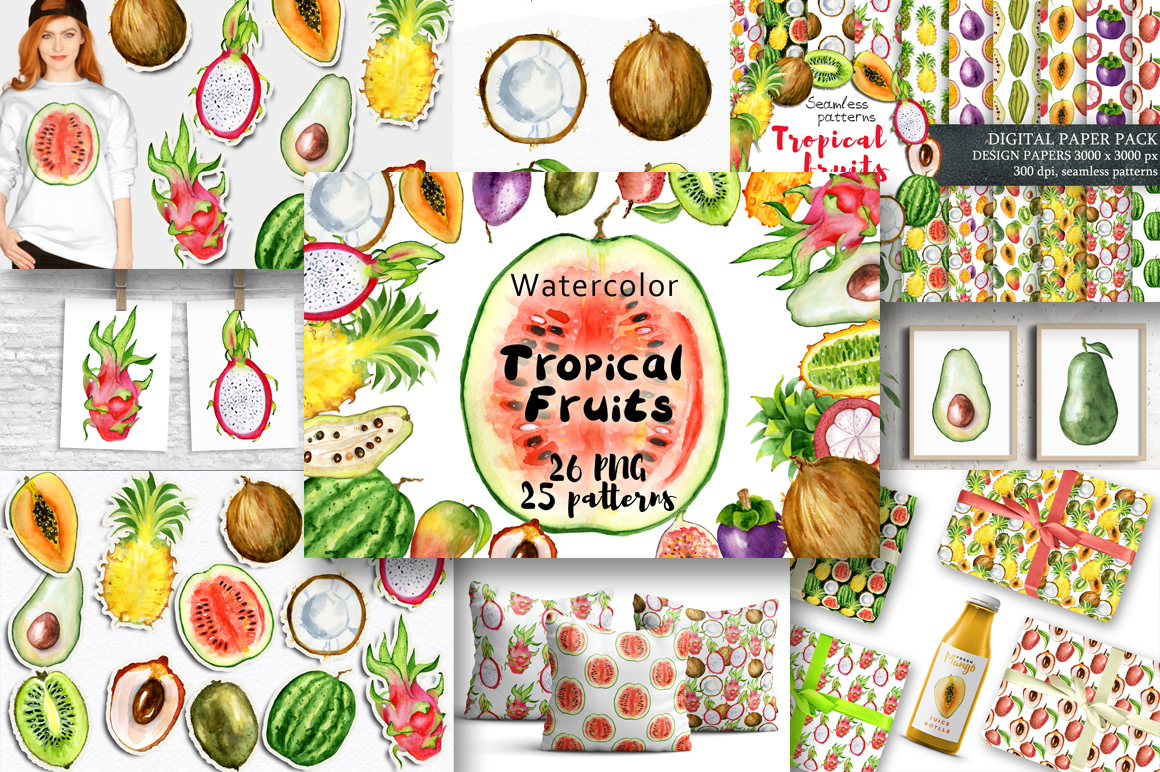 Summer Sale Watercolor Bundle