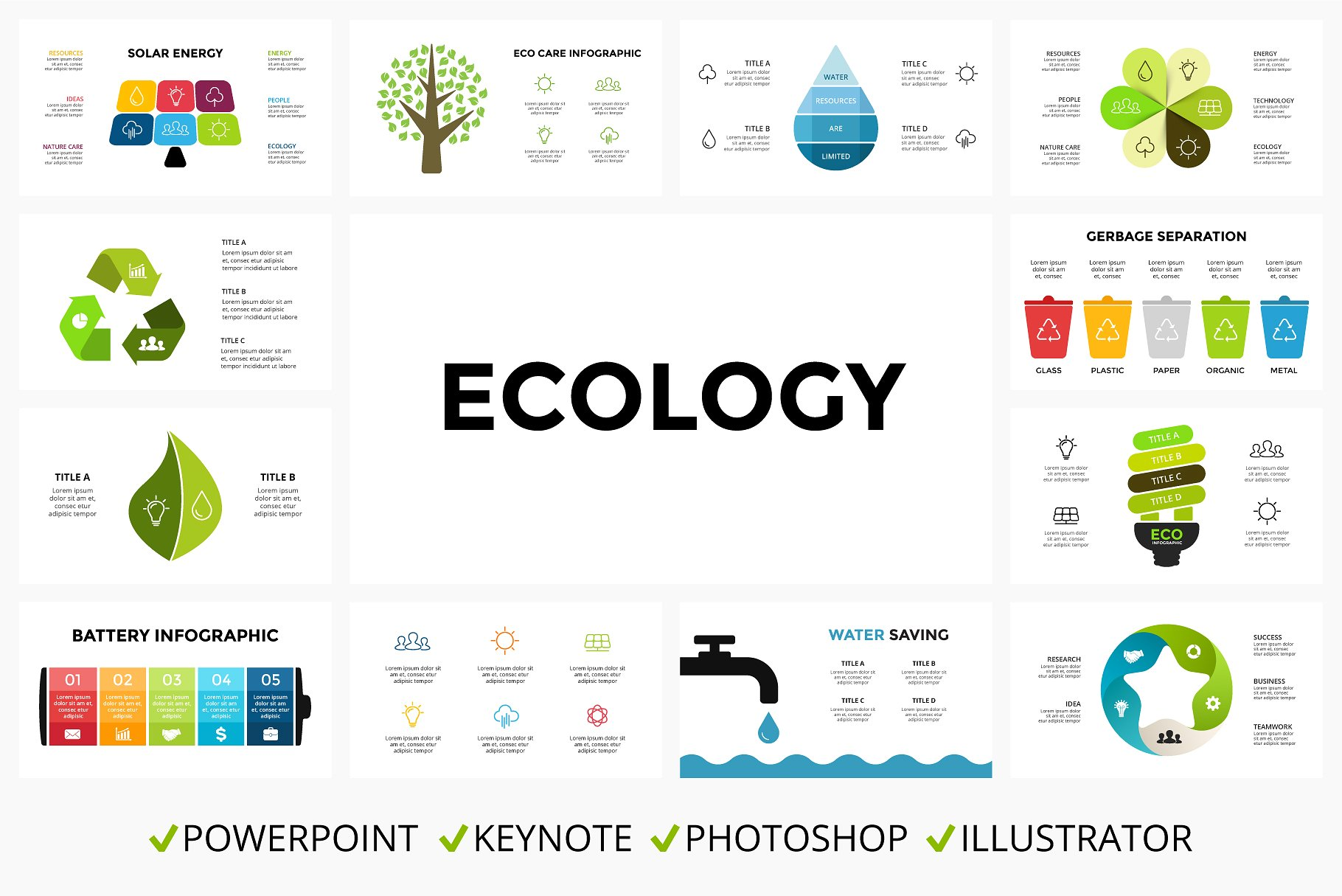 40 Ecology Infographic templates - $10 - ecology product cover