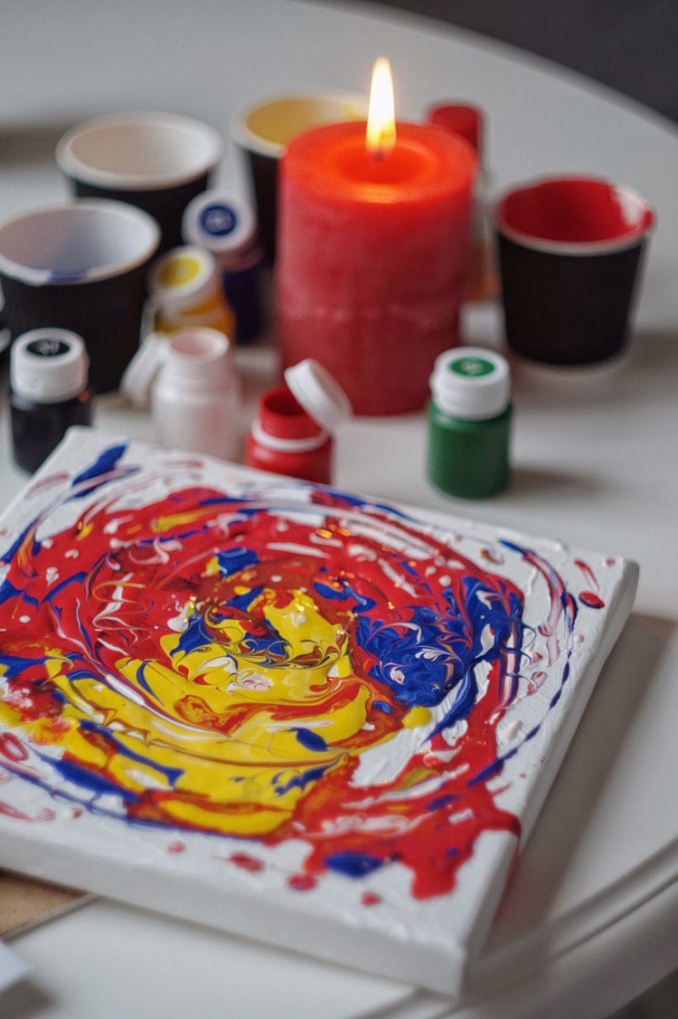 Fluid Art Painting in 2020.  Acrylic Fluid Art Tutorial and Gift Box for Beginners - photo 2019 04 08 21.39.12 min