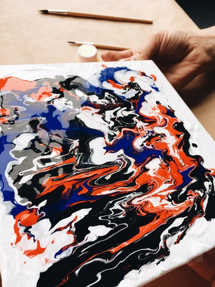 Fluid Art Painting in 2020.  Acrylic Fluid Art Tutorial and Gift Box for Beginners - photo 2019 04 08 21.39.26 min