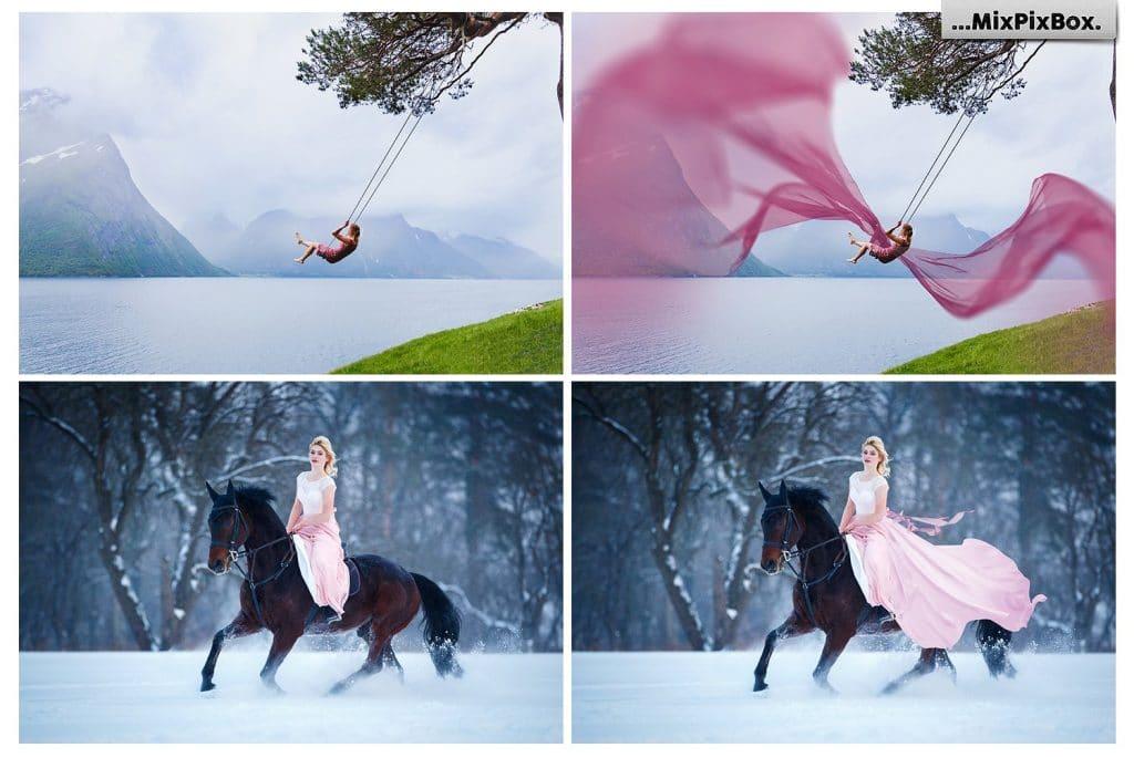 Flying Fabric (Flying Dress) Overlays