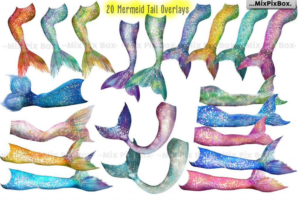 20 Mermaid Tail Overlays - $8 - 3 min 2 1024x685