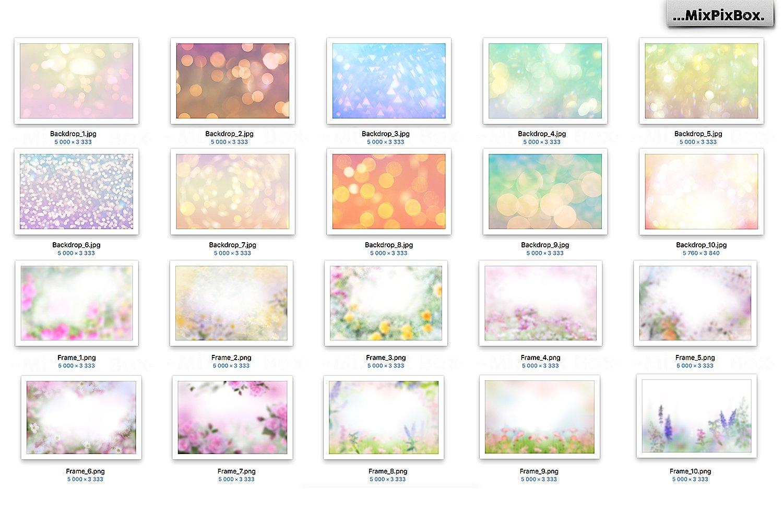 20 Art Flowers Photo Overlays - $7 - 4
