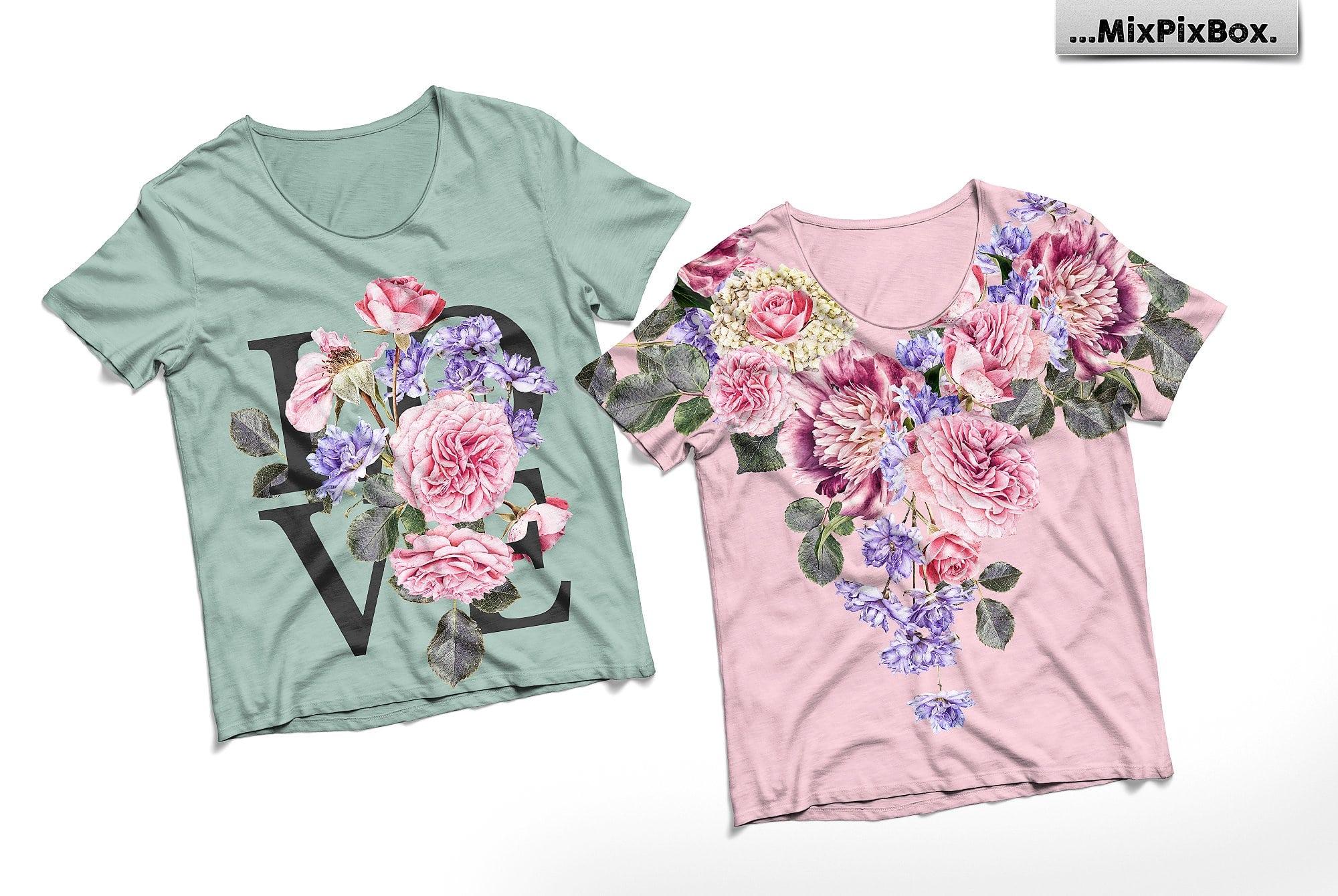Flower Studio: Modern digital clipart
