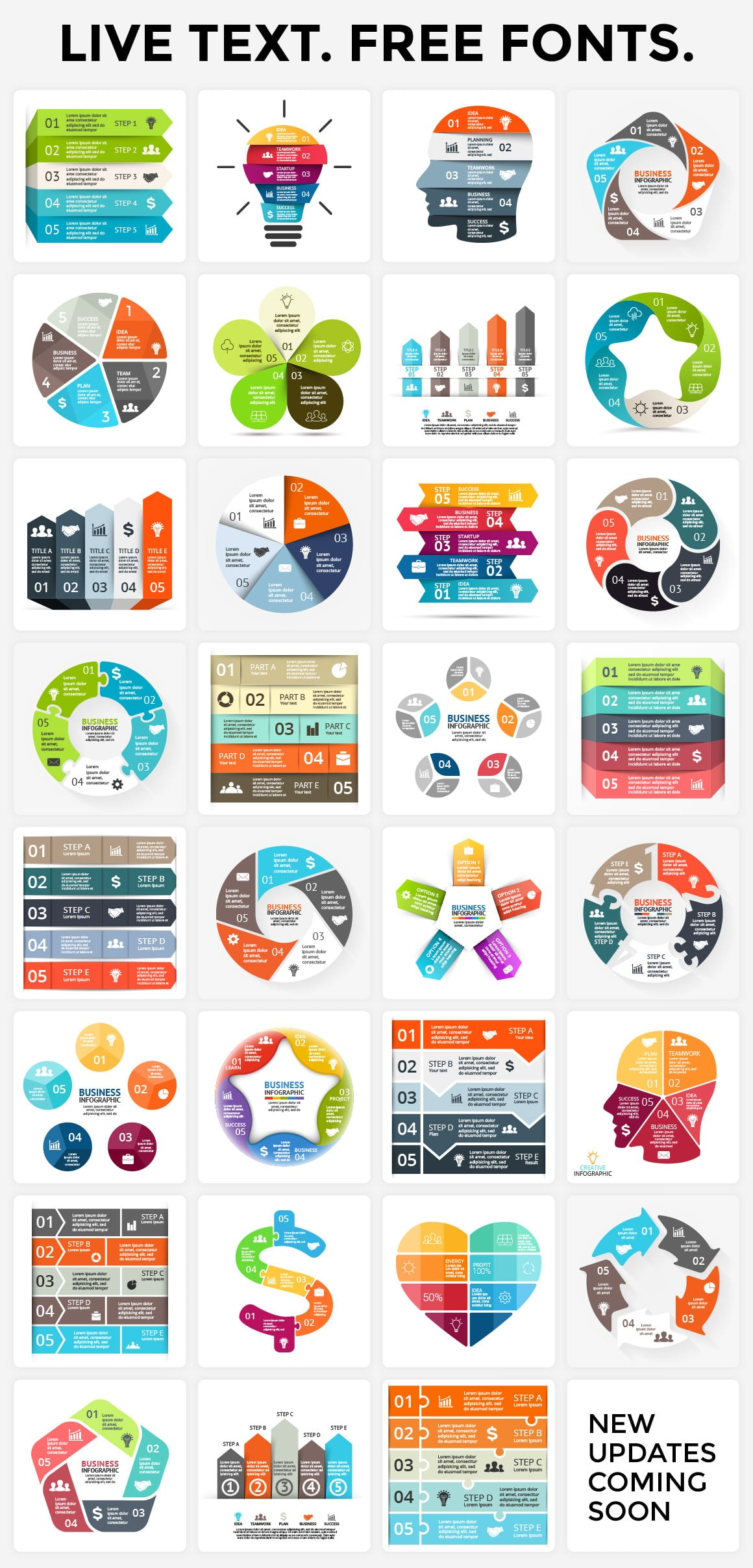 Live design and. interactivity makes infographics an indispensable addition to modern presentations.