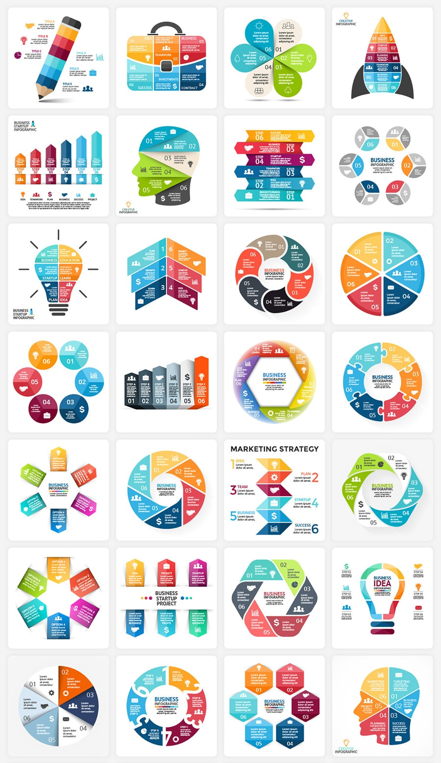 Original geometry and colors. This is the smallest thing that can be said about this infographic.