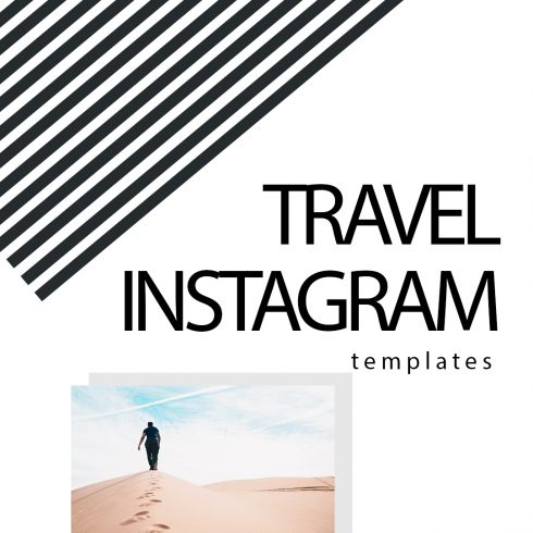 Travel Instagram Templates Bundle: 12 posts, 12 stories + BONUS 14 Instagram Highlight icons - $18 - 600 23 490x490
