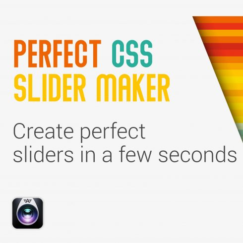 Perfect CSS Slider Maker - UNLIMITED WEBSITES License - 600 24 490x490