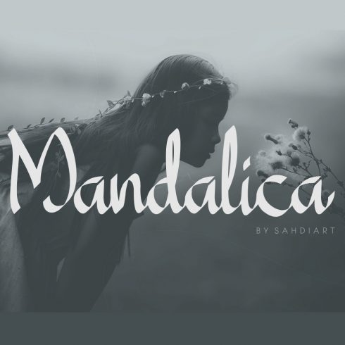 Mandalica Calligraphy Handwriting Font - $12 - 600 8 490x490