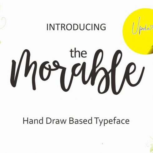 Morable Modern Hand Based Typeface - $10 - 601 12 490x490