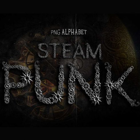Steampunk Alphabet Font - $9 - 601 19 490x490