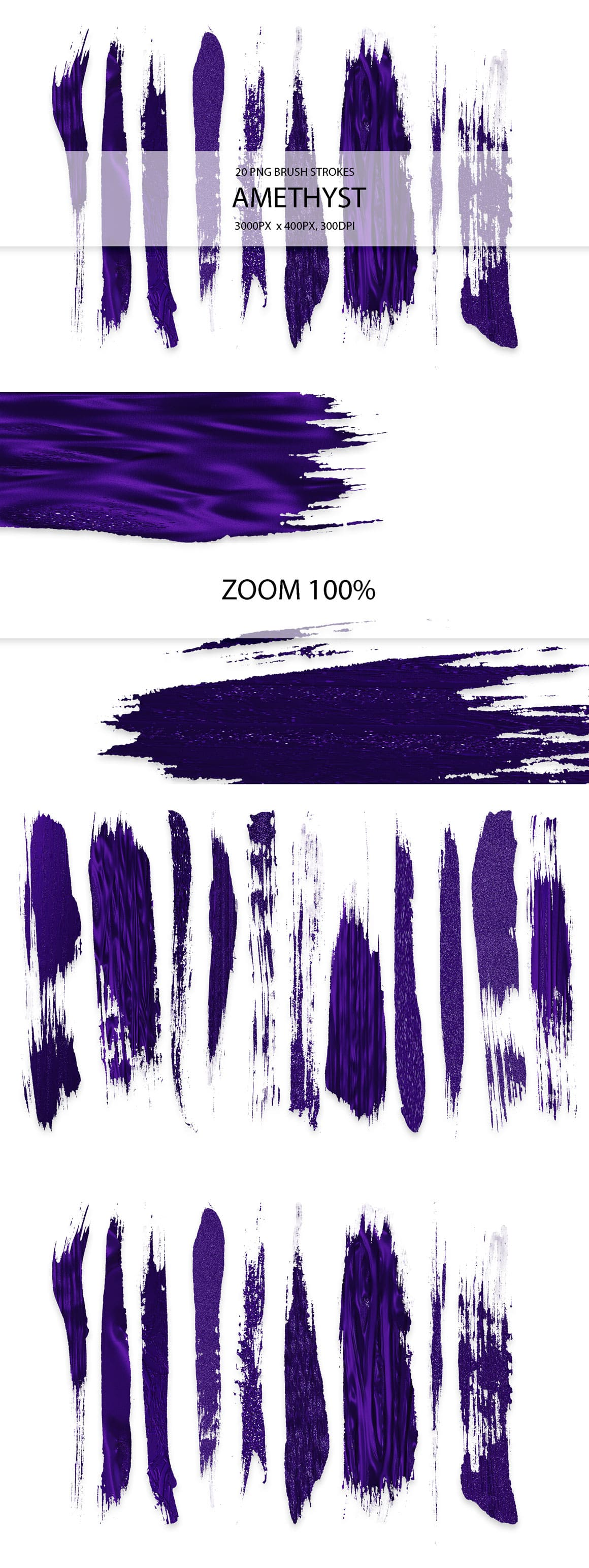 829 Acrylic Brush Strokes and Digital Brush Strokes