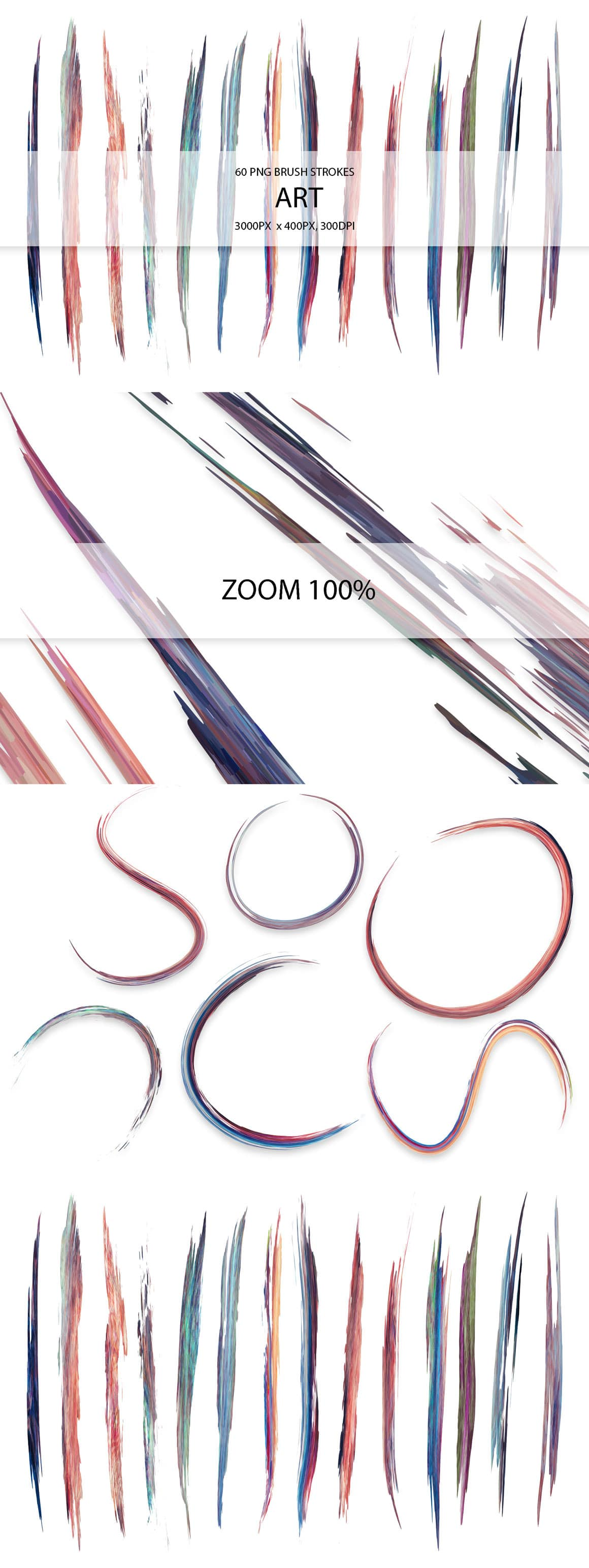 829 Acrylic Brush Strokes and Digital Brush Strokes - $9 - ArtStrokes 01 min
