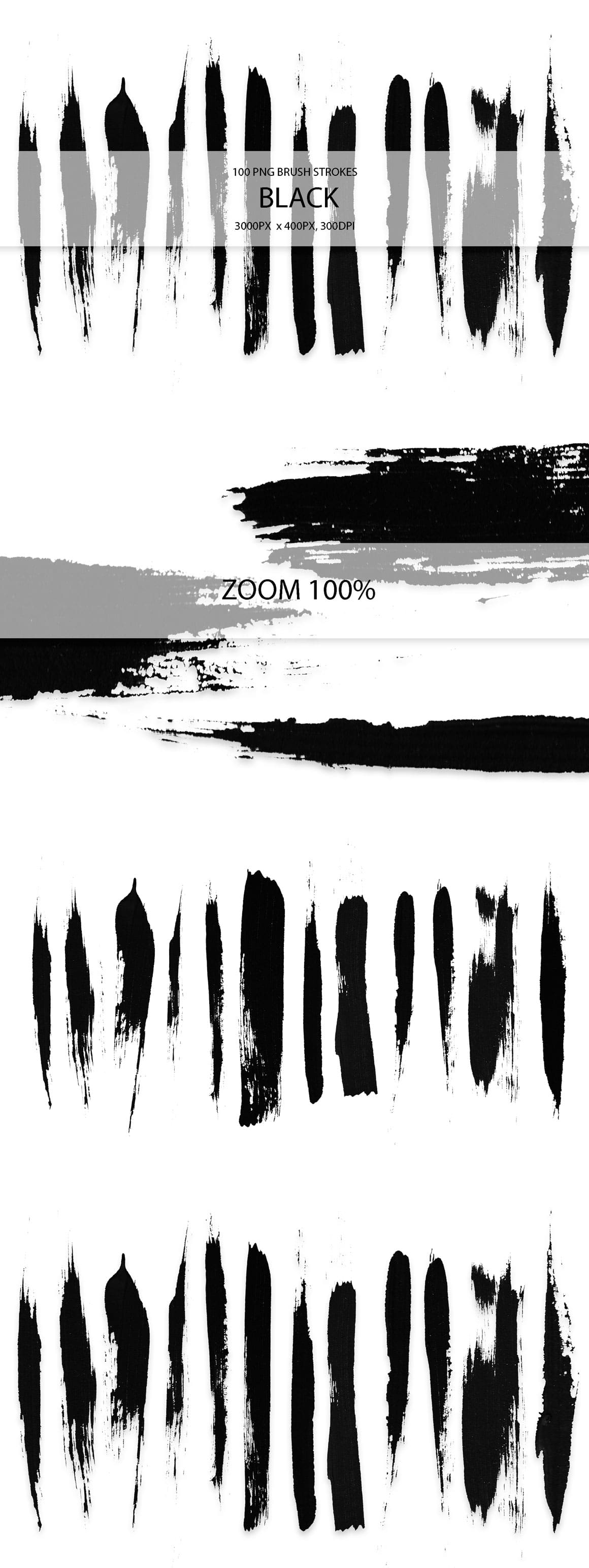 829 Acrylic Brush Strokes and Digital Brush Strokes - $9 - BlackBrushStrokes 01 min