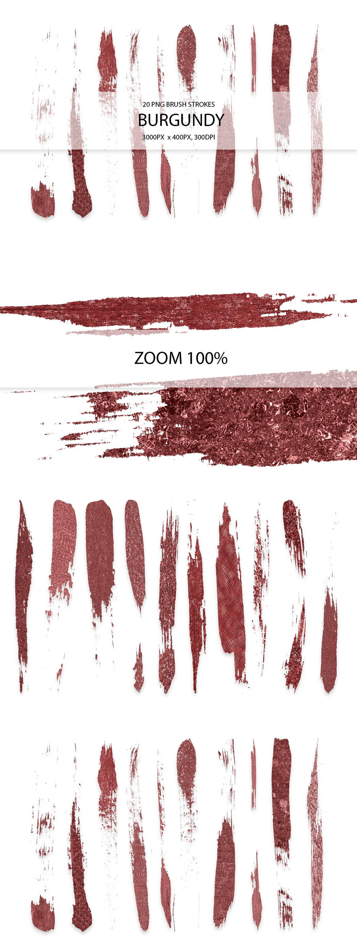 829 Acrylic Brush Strokes and Digital Brush Strokes - $9 - BurgundyStrokes 01 min