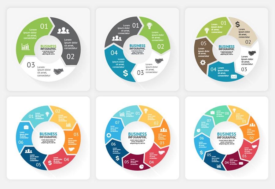 340 PRO Infographics Bundle | PSD AI EPS