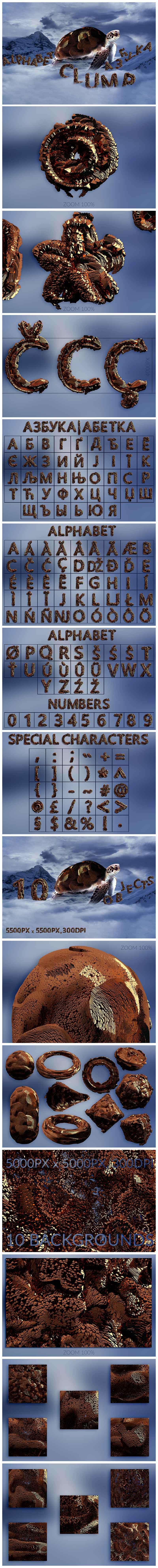 Huge Graphic Bundle Alphabet with 1000+ elements - $25 - Clump min
