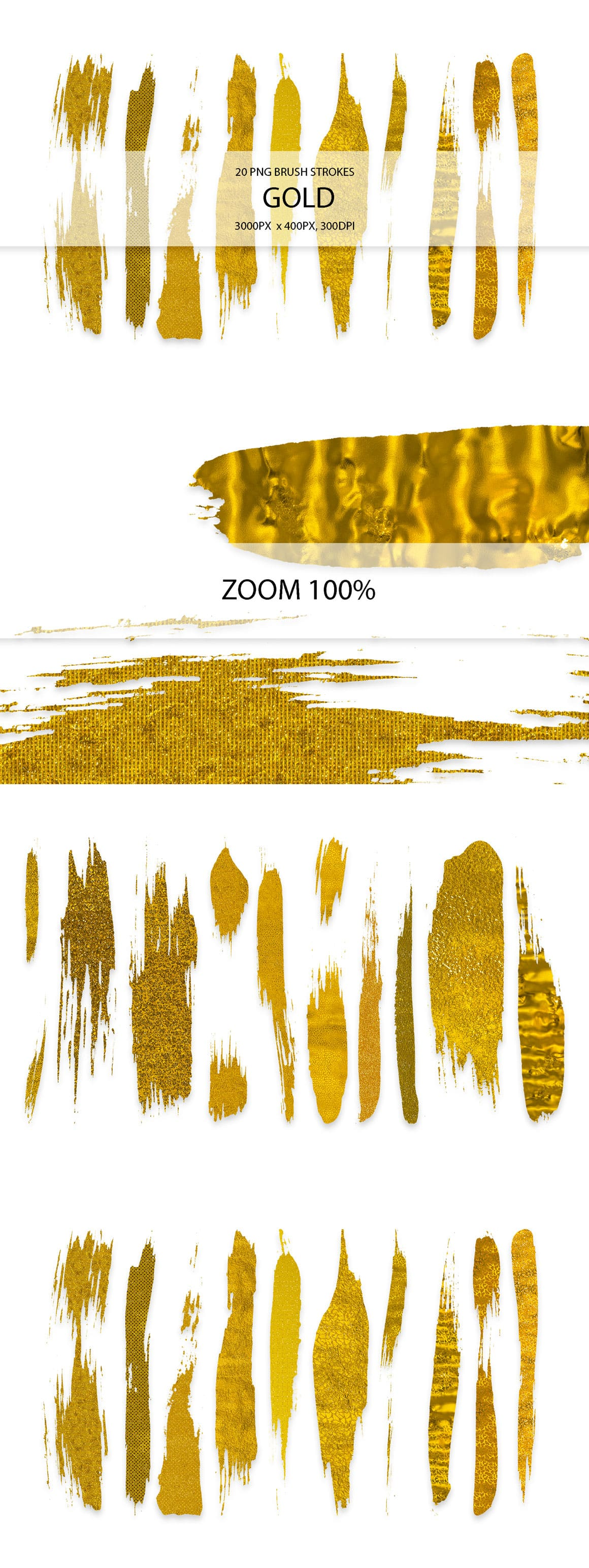 829 Acrylic Brush Strokes and Digital Brush Strokes - $9 - GoldStrokes 01 min