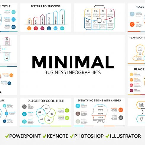 5 Free Minimal Business Infographic Templates - MINIMAL COVER 01 1 490x490