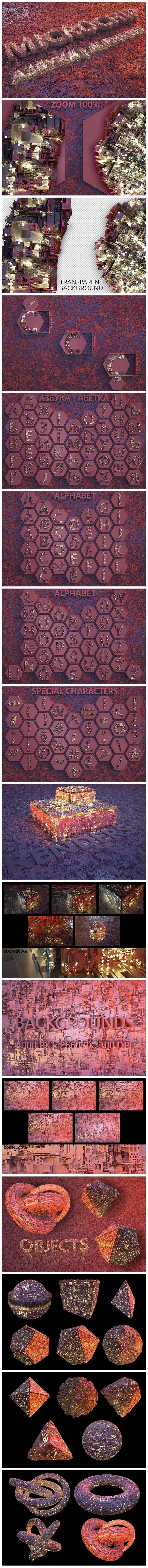 Huge Graphic Bundle Alphabet with 1000+ elements - $25 - Microchip min