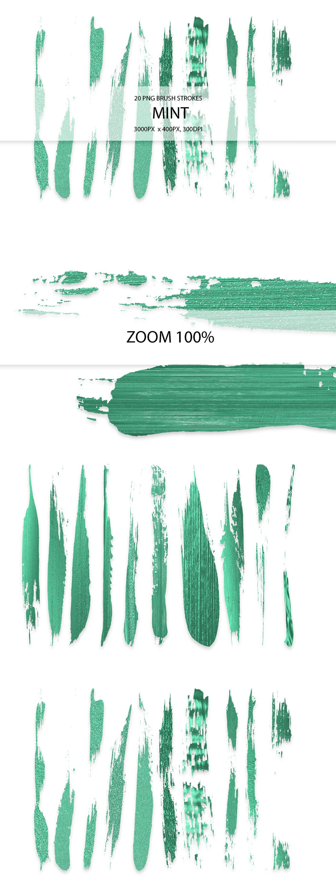829 Acrylic Brush Strokes and Digital Brush Strokes - $9 - MintStrokes 01 min