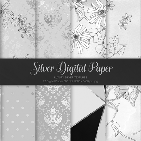 Author - Silver Digital Paper 490x490