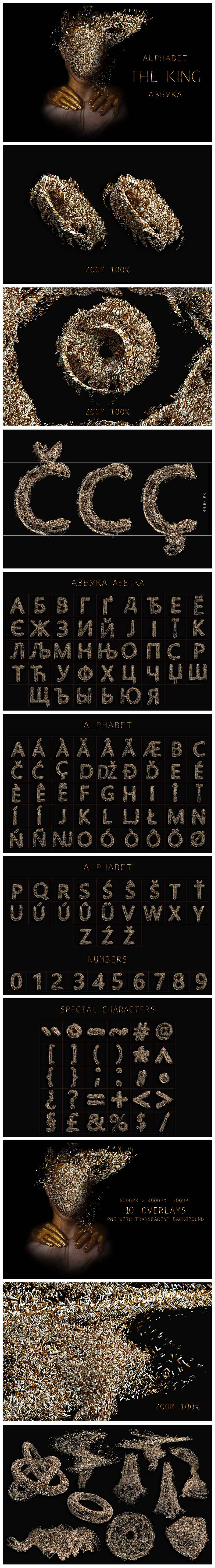Huge Graphic Bundle Alphabet with 1000+ elements - $25 - The King min
