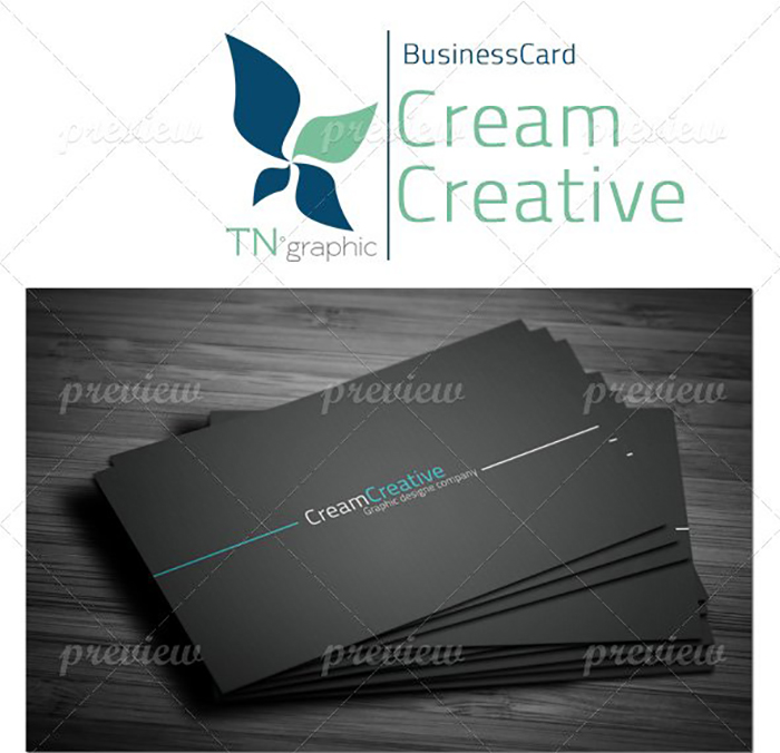 Ultimate Print Templates Bundle with 130 Items - Only $19 - codegrape 1727 cream creative business card small