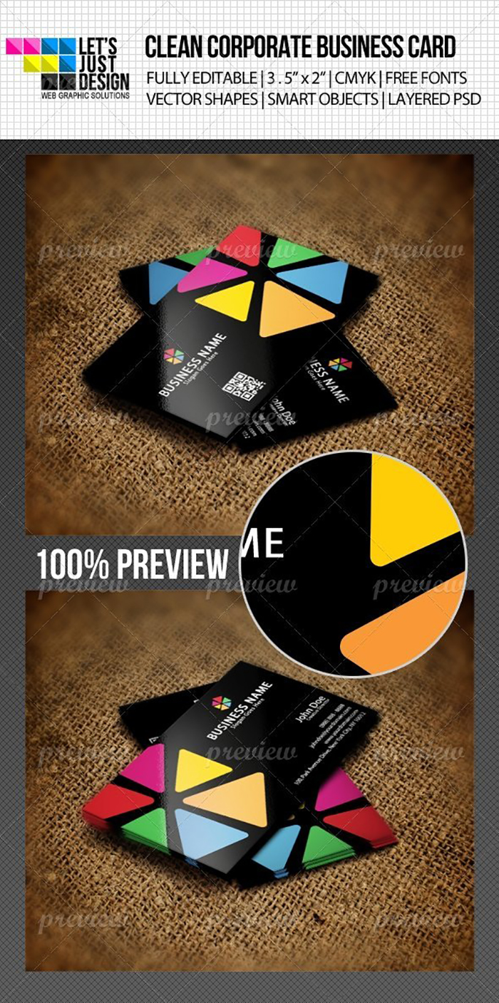 Ultimate Print Templates Bundle with 130 Items - Only $19 - codegrape 1892 colorful creative business card small