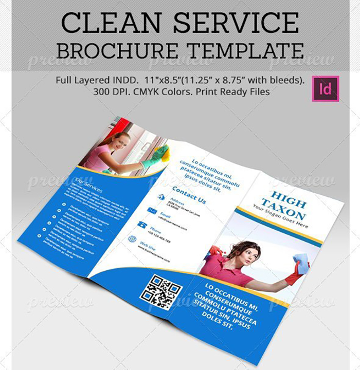 Ultimate Print Templates Bundle with 130 Items - Only $19 - codegrape 2083 clean service brochure template small