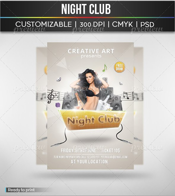 Ultimate Print Templates Bundle with 130 Items - Only $19 - codegrape 2088 flyer night club small