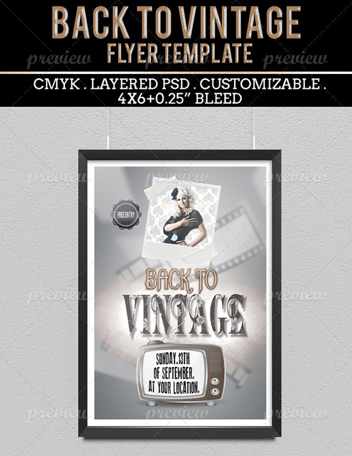 Ultimate Print Templates Bundle with 130 Items - Only $19 - codegrape 2118 back to vintage flyer small