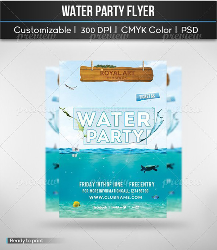 Ultimate Print Templates Bundle with 130 Items - Only $19 - codegrape 2151 water party small