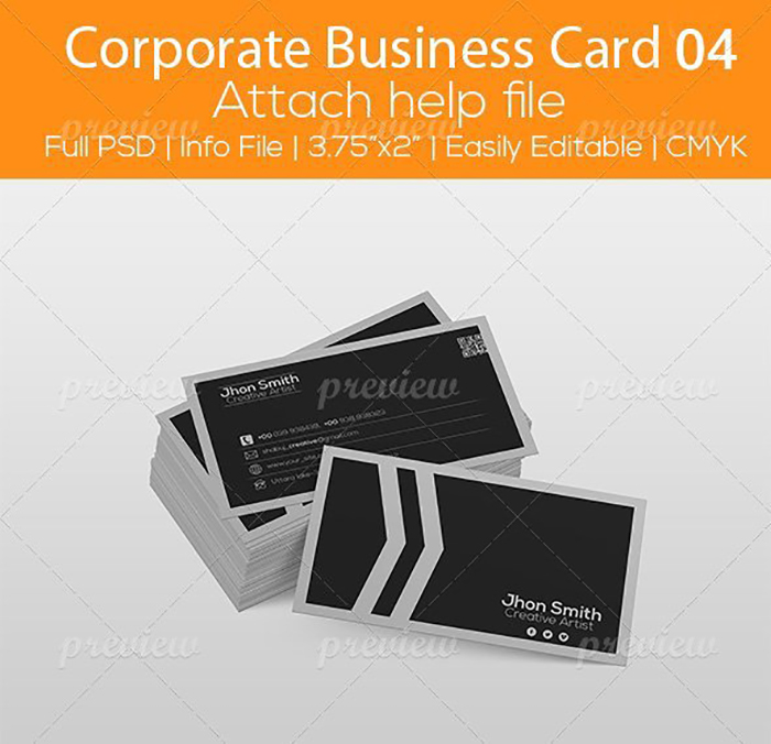 Ultimate Print Templates Bundle with 130 Items - Only $19 - codegrape 2855 corporate business card 04 small