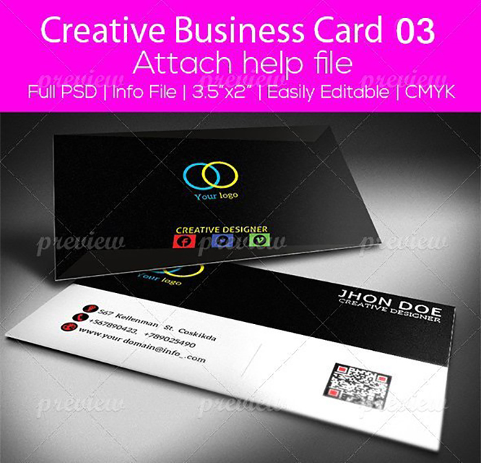 Ultimate Print Templates Bundle with 130 Items - Only $19 - codegrape 2861 creative business card 03 small