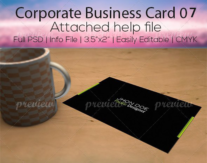Ultimate Print Templates Bundle with 130 Items - Only $19 - codegrape 2904 corporate business card 07 small