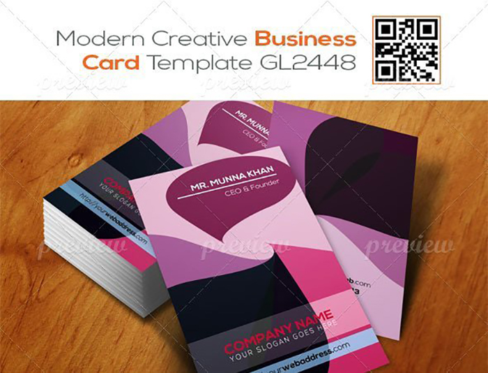 Ultimate Print Templates Bundle with 130 Items - Only $19 - codegrape 2935 modern corporate business card template gl2448 small