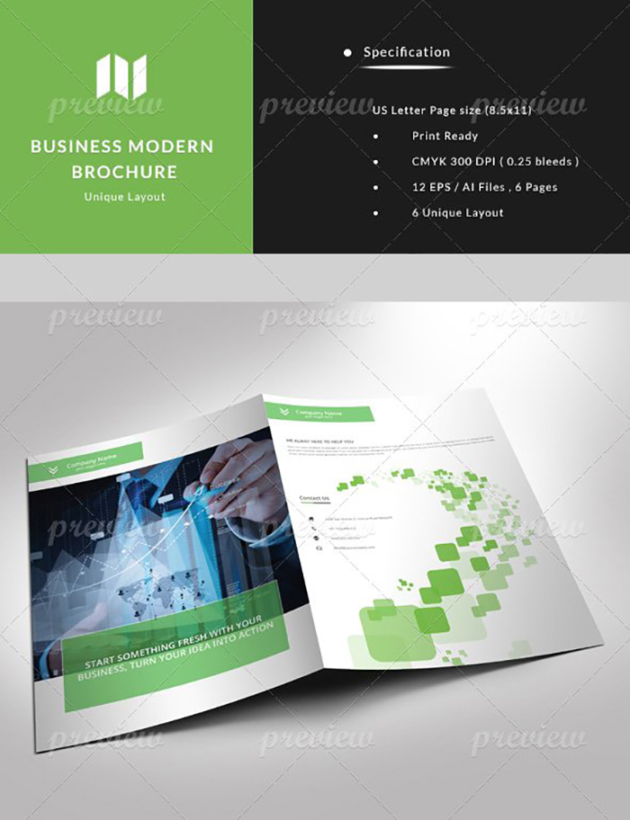 Ultimate Print Templates Bundle with 130 Items - Only $19 - codegrape 3603 business modern brochure small
