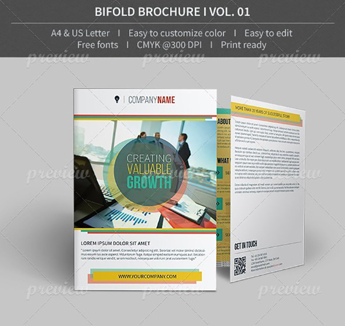 Ultimate Print Templates Bundle with 130 Items - Only $19 - codegrape 3862 bifold brochure volume 01 small