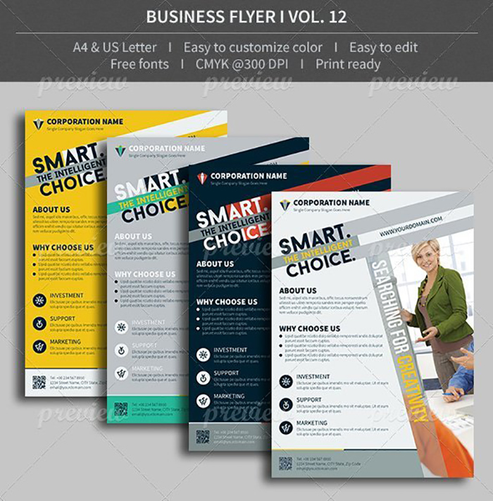 Ultimate Print Templates Bundle with 130 Items - Only $19 - codegrape 3875 business flyer volume 01 small