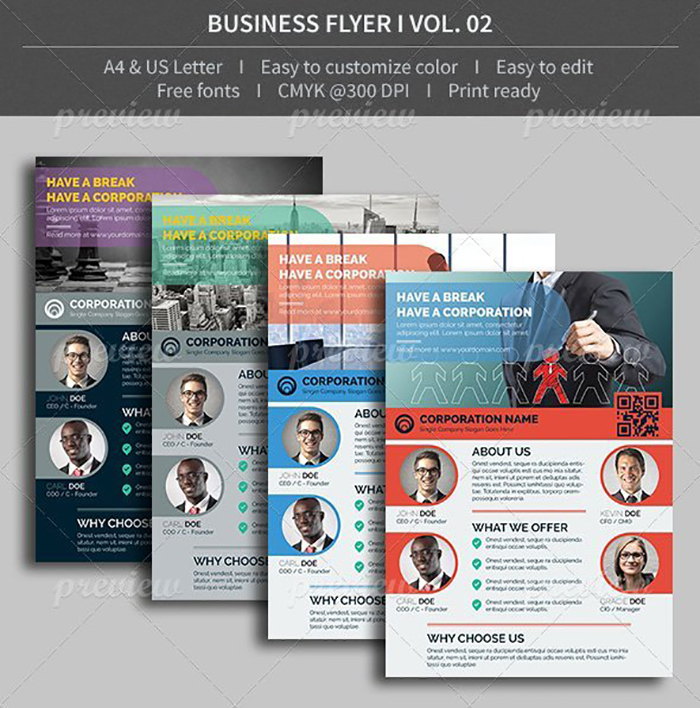 Ultimate Print Templates Bundle with 130 Items - Only $19 - codegrape 4115 business flyer volume 02 small