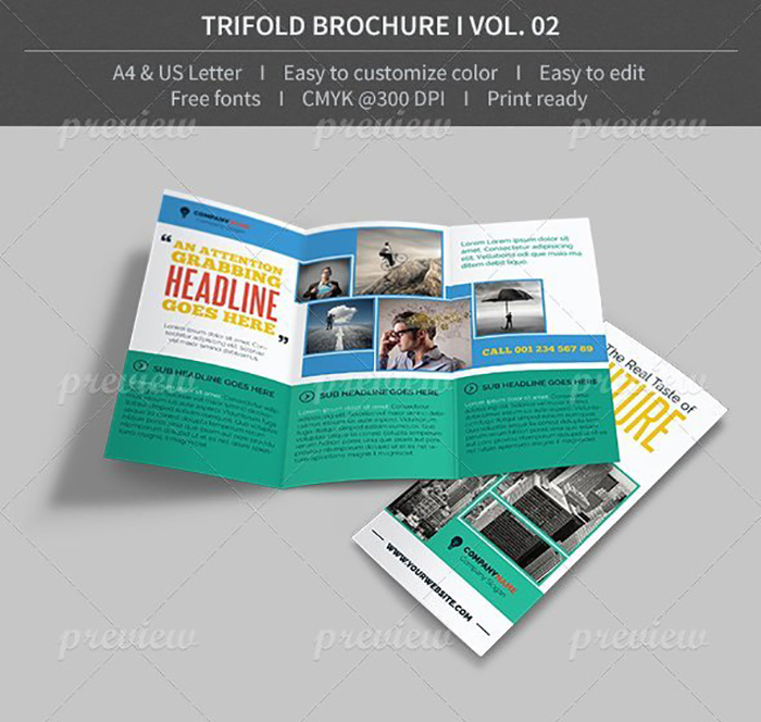 Ultimate Print Templates Bundle with 130 Items - Only $19 - codegrape 4116 trifold brochure volume 02 small