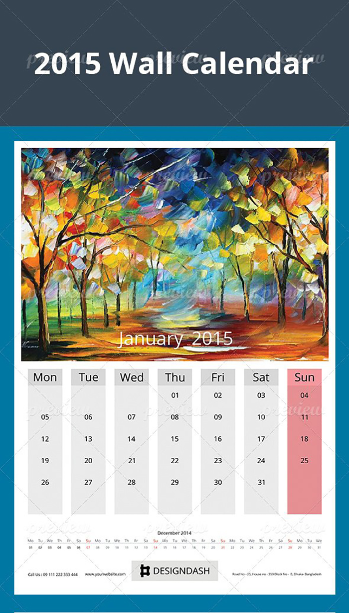 Ultimate Print Templates Bundle with 130 Items - Only $19 - codegrape 4117 2015 wall calendar design small