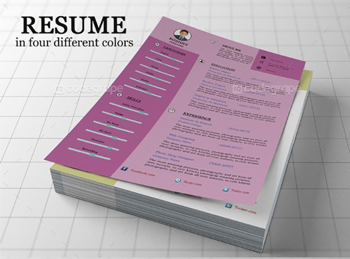 Ultimate Print Templates Bundle with 130 Items - Only $19 - codegrape 5275 creative resume template small