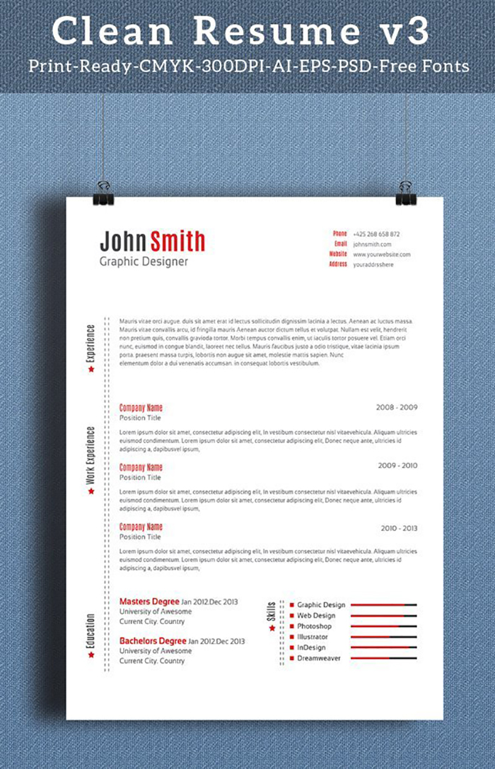 Ultimate Print Templates Bundle with 130 Items - Only $19 - codegrape 5398 clean resume small