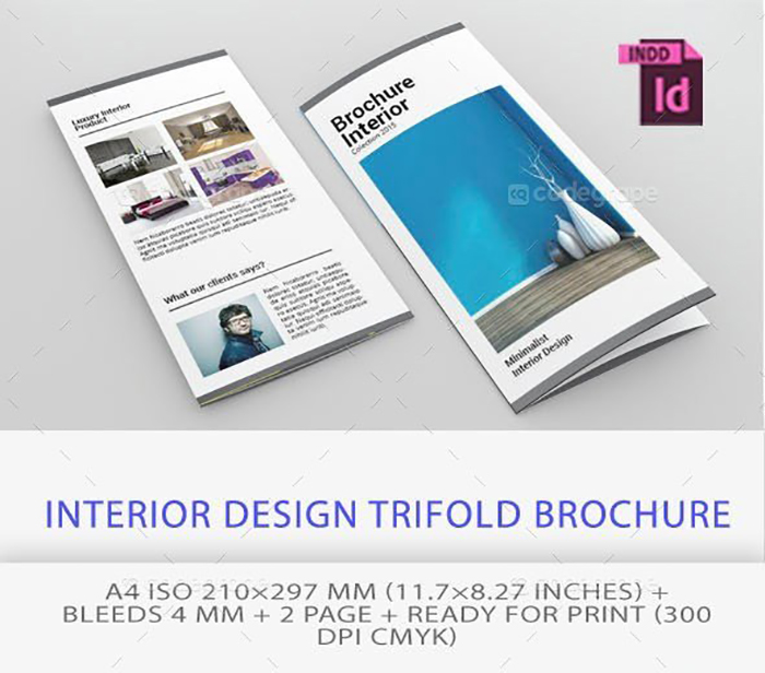 Ultimate Print Templates Bundle with 130 Items - Only $19 - codegrape 5499 interior design trifold brochure small